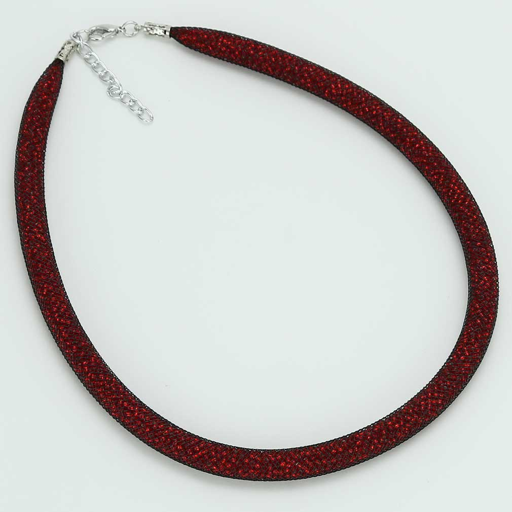 Murano Necklace Eleganza - Fire Red