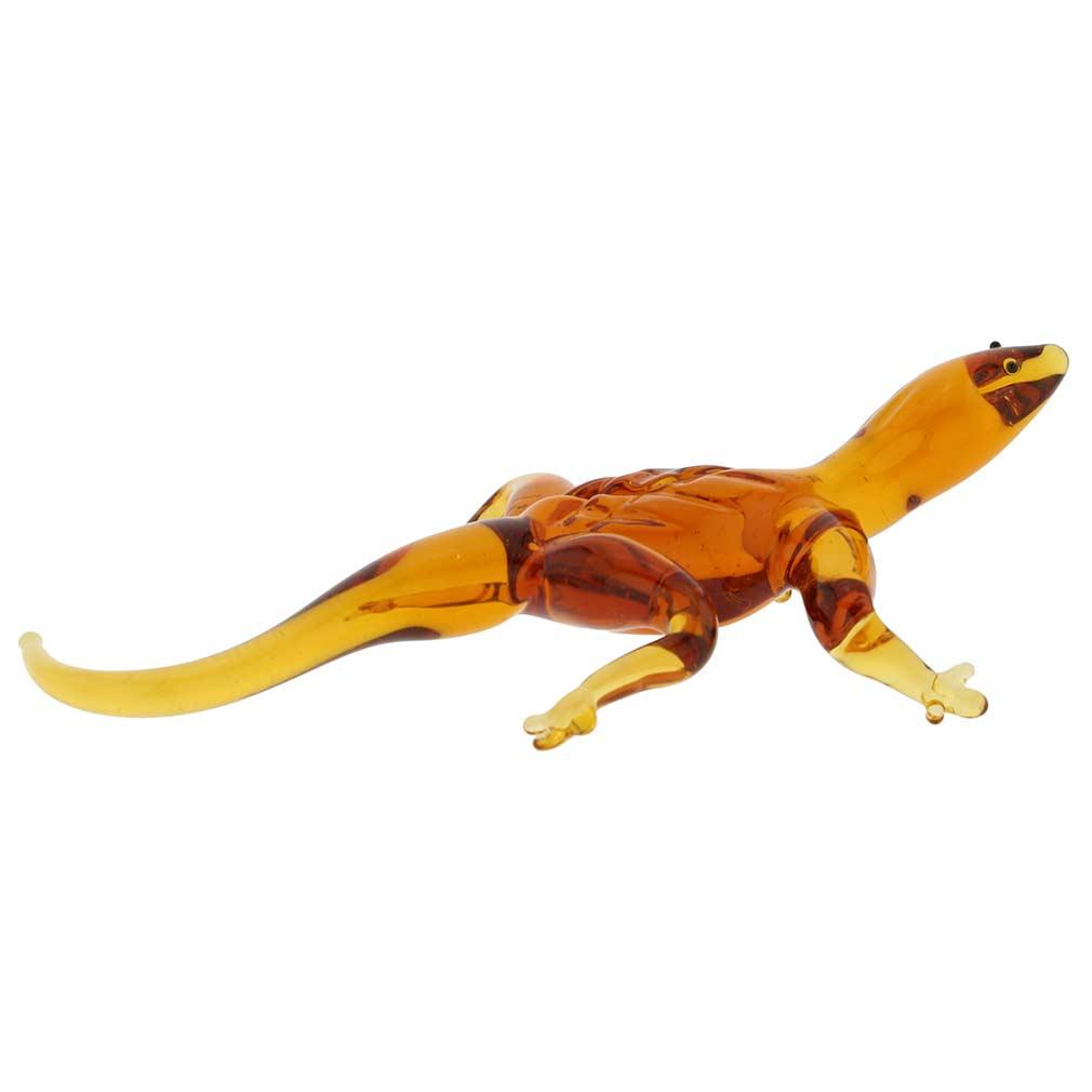Murano Glass Lizard - Golden Brown