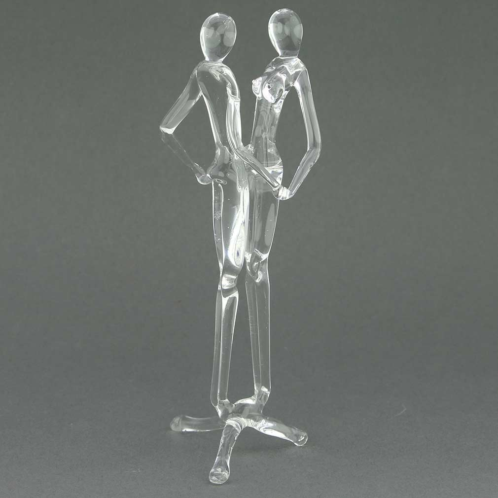 Murano Glass Lovers Statue - Clear