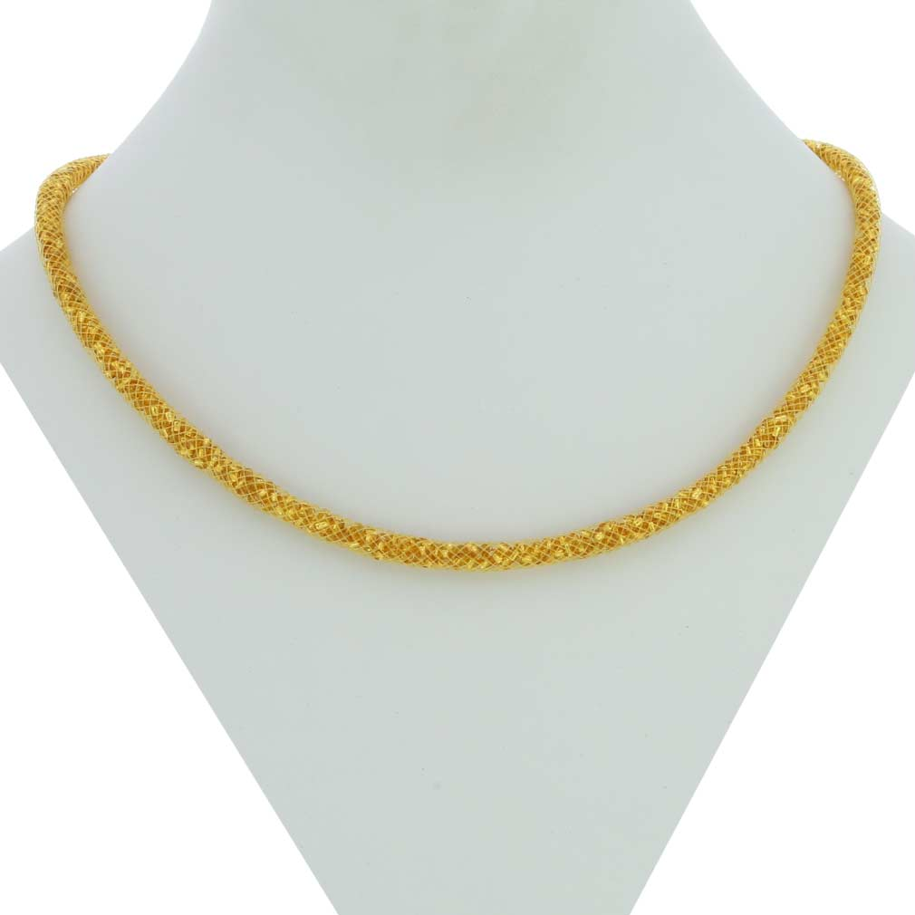 Thin Murano Necklace Eleganza - Gold