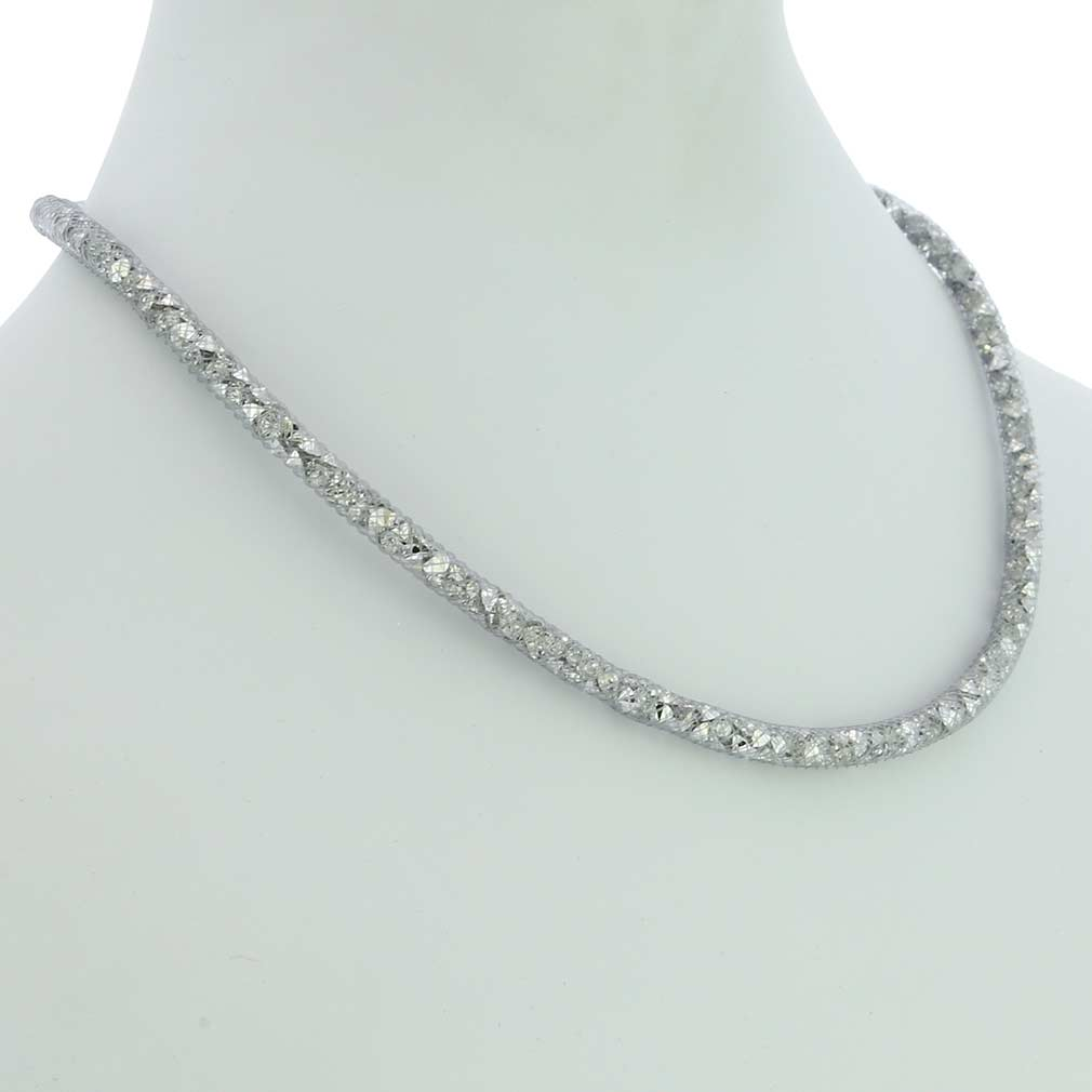 Thin Murano Necklace Eleganza - Silver