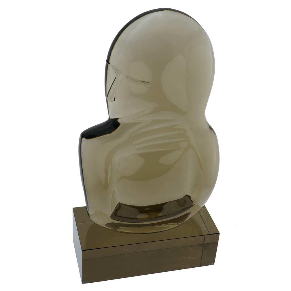 Vintage Murano Glass Sculpture The Thinker by Loredano Rosin