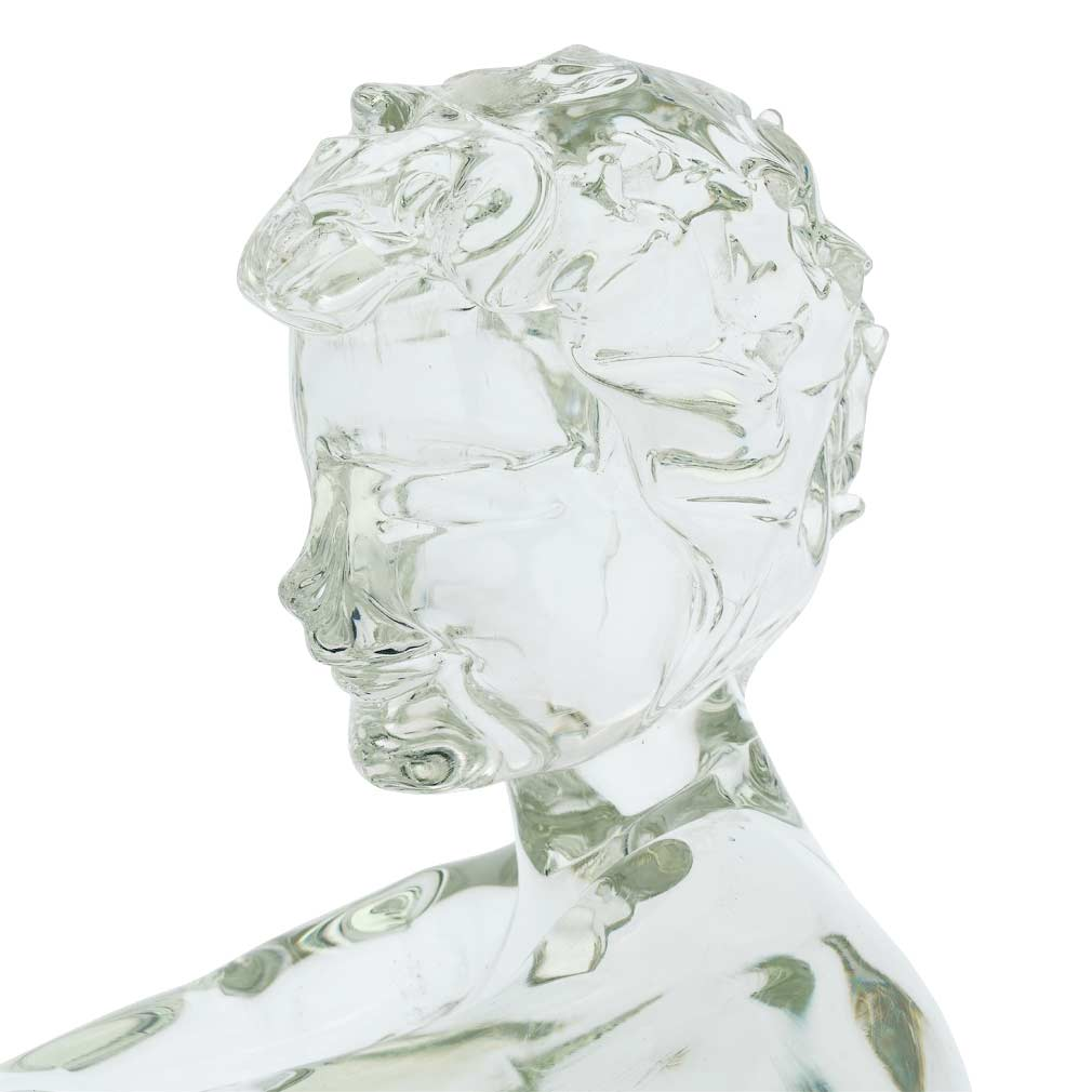 Vintage Murano Glass Seated Boy Sculpture by Loredano Rosin