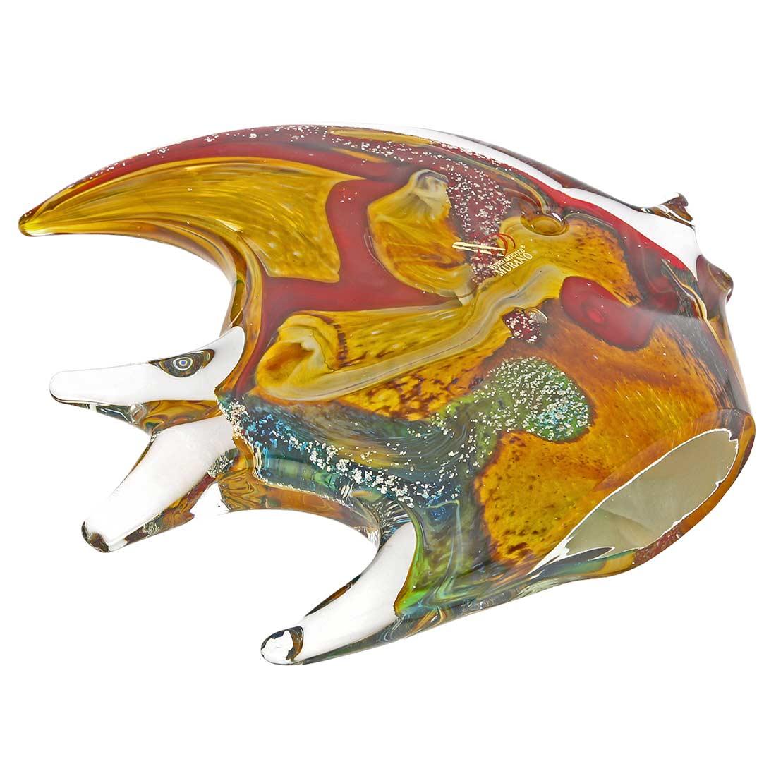 Murano Glass Fish - Rainbow Chalcedony