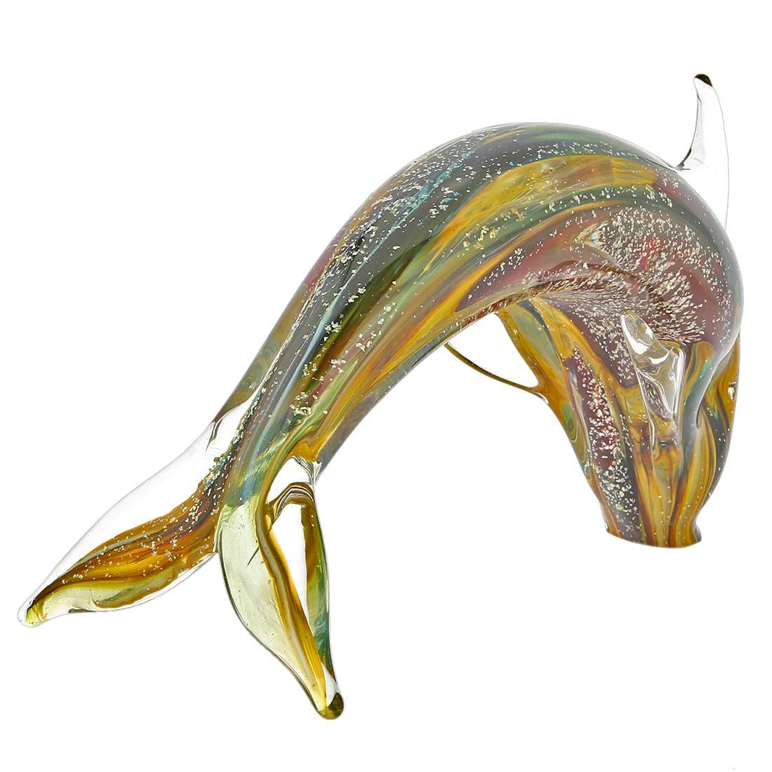 Murano Glass Dolphin - Chalcedony