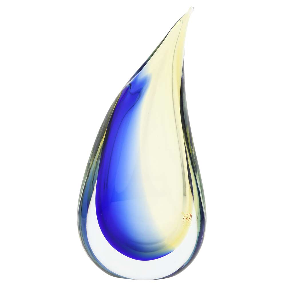 murano sommerso vase amber blue unique glass vases. Black Bedroom Furniture Sets. Home Design Ideas