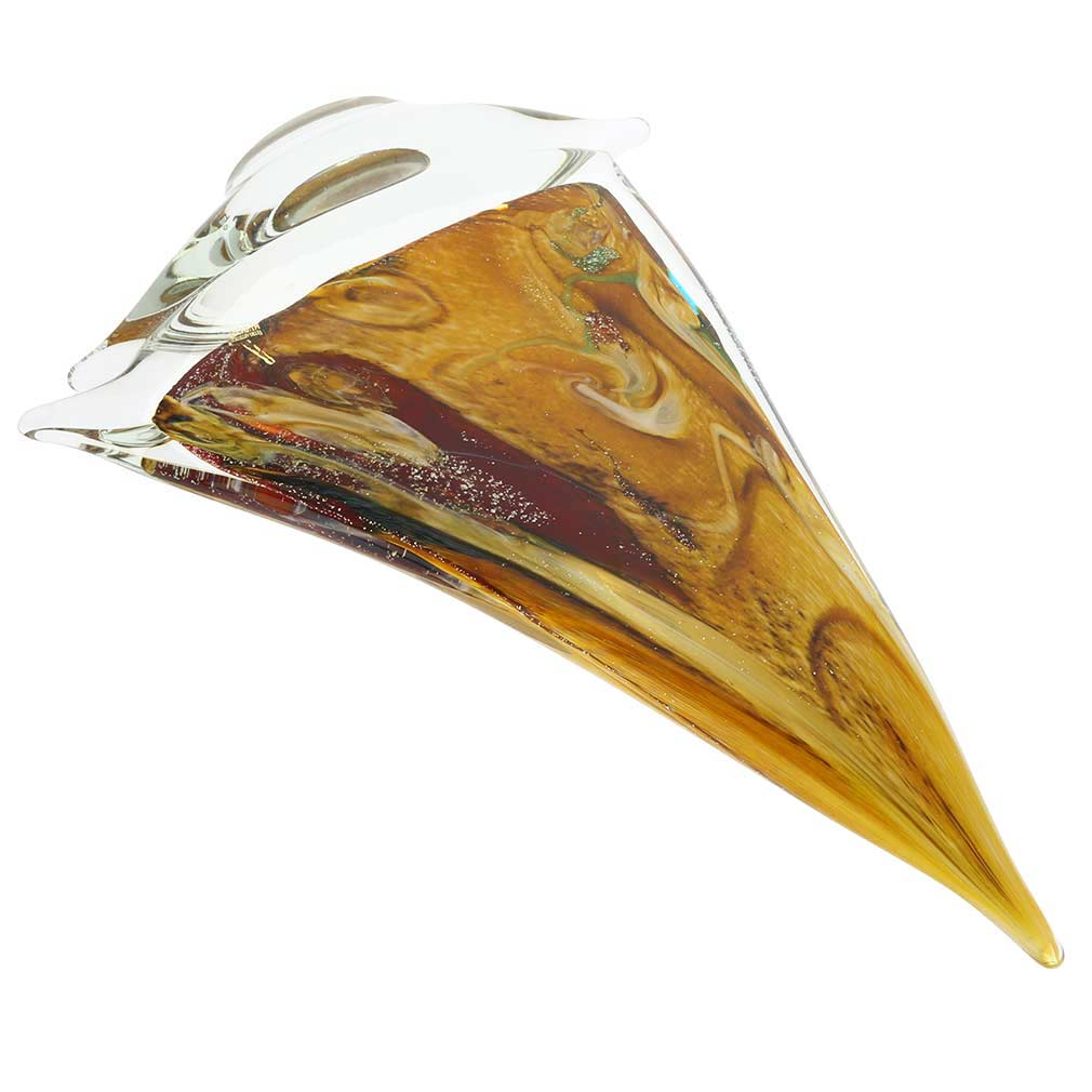 Murano Glass Large Sailboat - Chalcedony