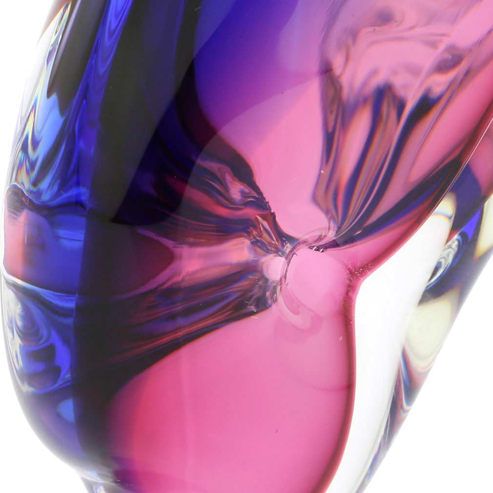 Murano Glass Dolphin - Rose and Blue