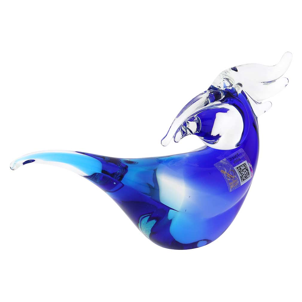 Murano Glass Toucan - Aqua Blue