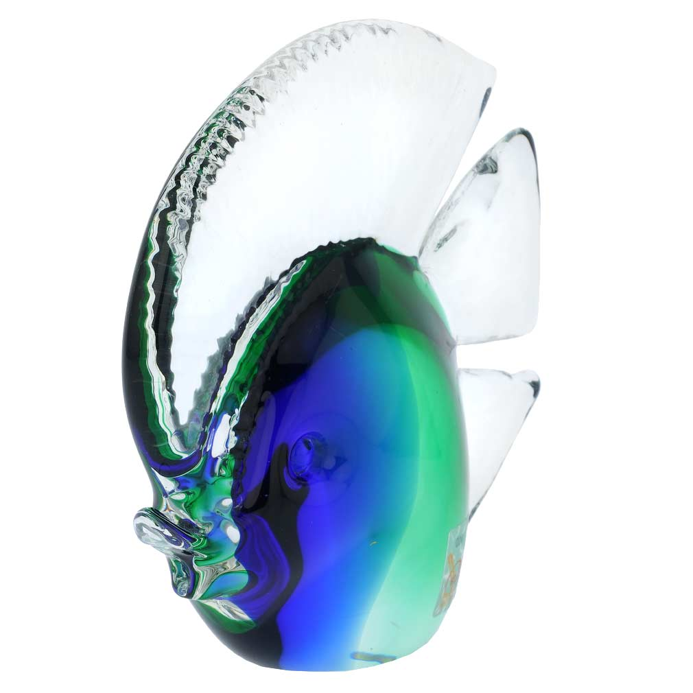 Murano Glass Tropical Fish - Green and Blue