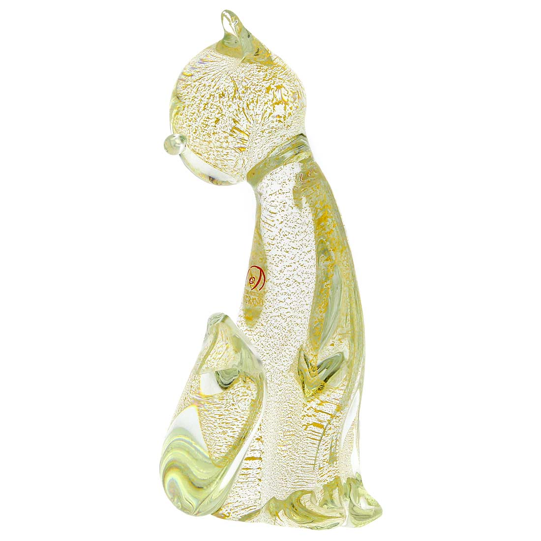 Murano Glass Cat - Sparkling Gold