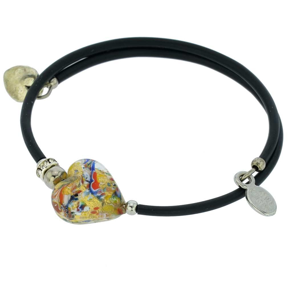 Venetian Glamour Heart Bracelet - Multicolor Confetti