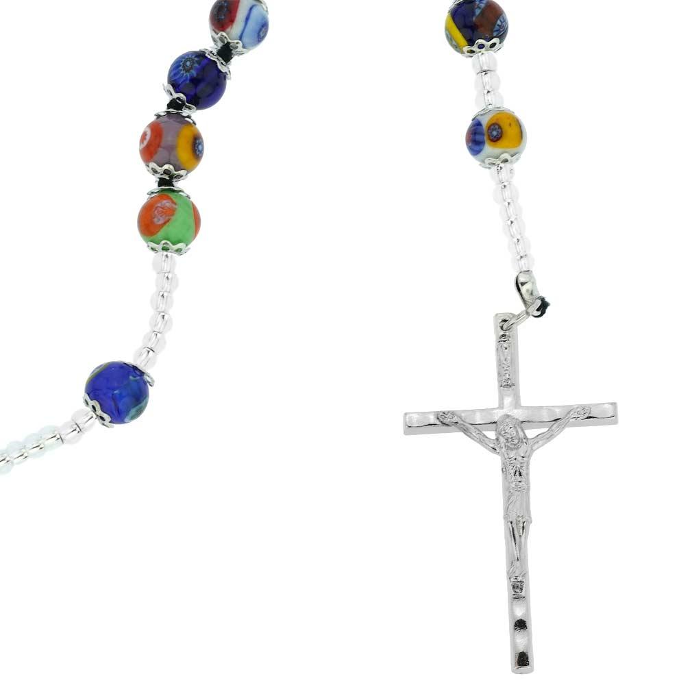 Murano Glass Millefiori Italian Rosary