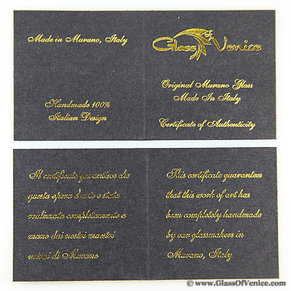 GlassOfVenice Certificate