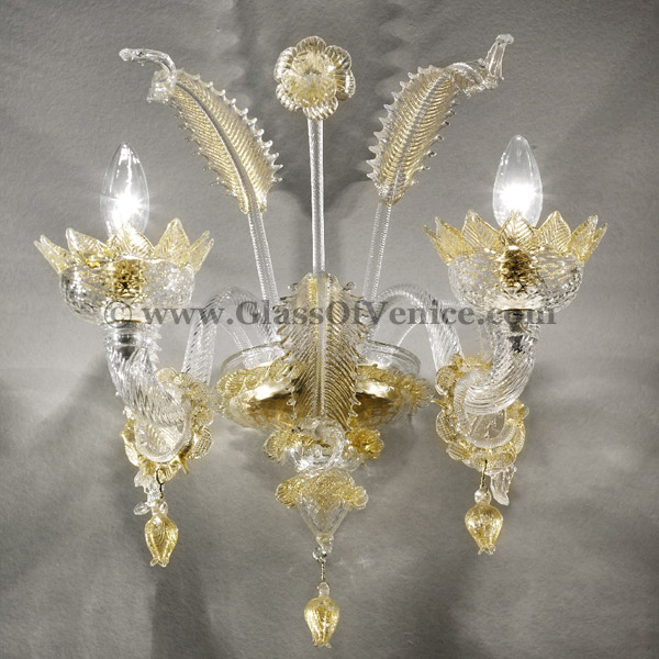 Casanova Series Wall Sconce 2 Lights With Rings