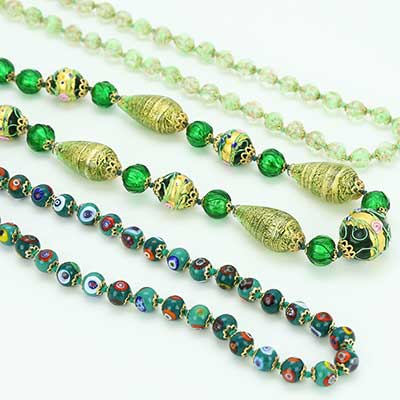 Green Murano Glass Necklaces