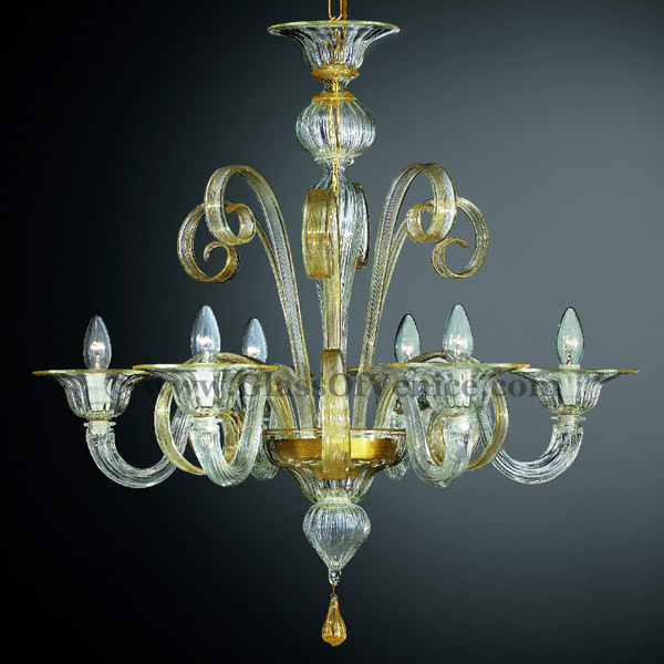 Goldoni Series Chandelier 6 Lights