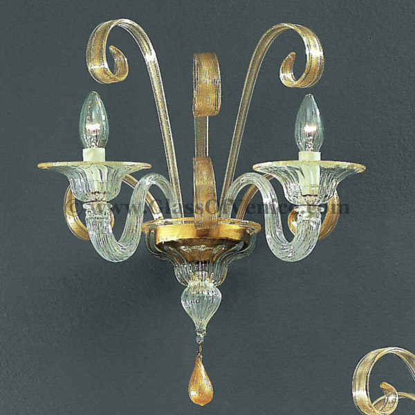 Goldoni series Wall sconce 2 lights