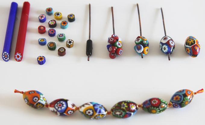 murano millefiori beads