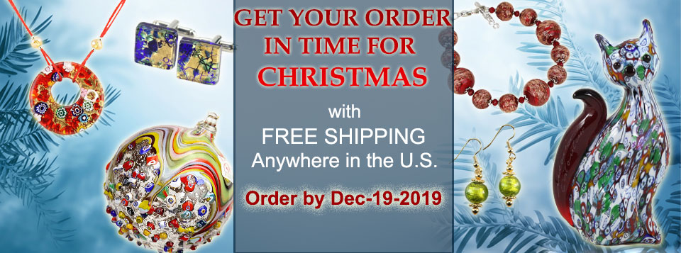 Murano Glass Jewelry and Gifts in time for Christmas