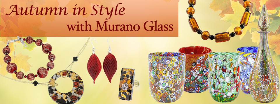 Murano Glass Jewelry Vases Decanters And Glasses For The Fall