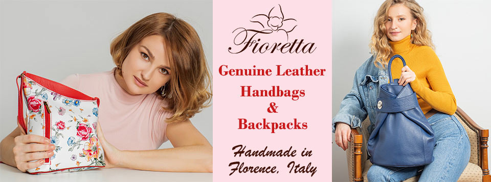 Fioretta Italian Genuine Leather Handbags and Backpacks Made In Florence