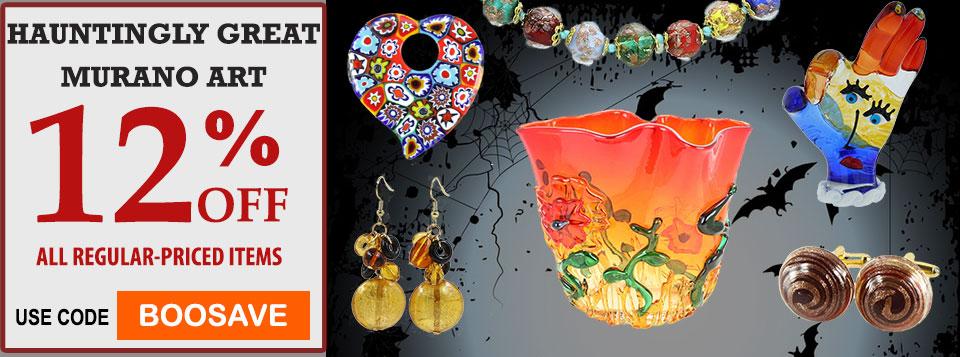 Glass Of Venice Murano Glass Halloween Sale