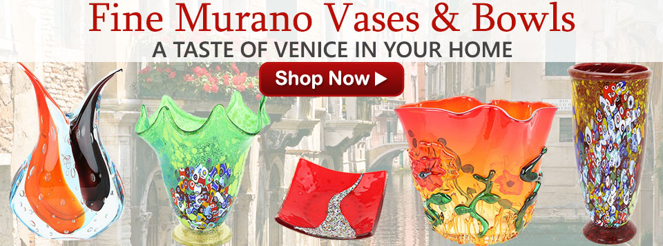 Murano Glass Vases and Bowls