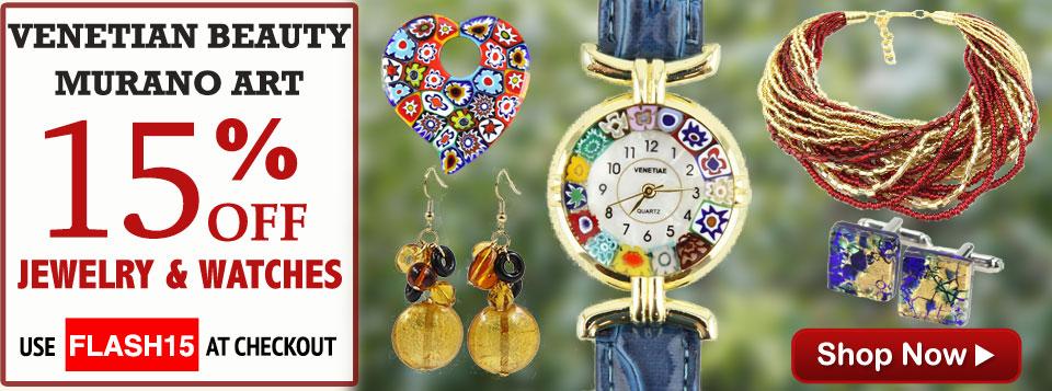 GlassOfVenice Murano Glass Jewelry Sale