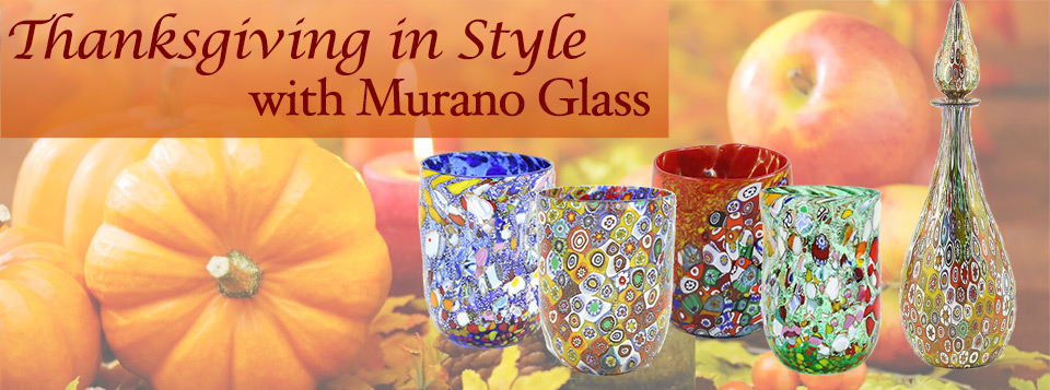 Celebrate Thanksgiving with Murano Glass
