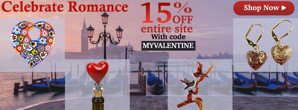 Murano Glass Sale Valentine's Day