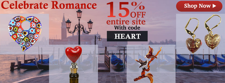 Murano Glass Valentine's Day Gifts Sale